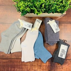 NWT BUNDLE LEMON Crew Socks (6 pairs)